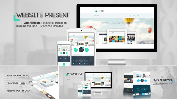 Videohive Website Presentation 19589549 | AE Templates