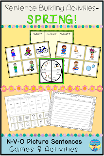 Make sentence building easier with pictured activities! Looks Like Language