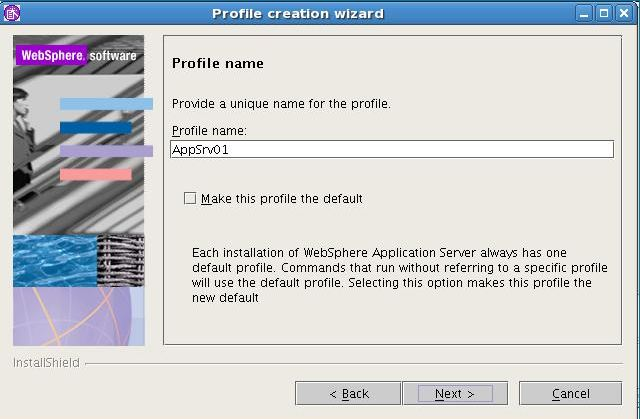 New profile Creation in WAS Linux