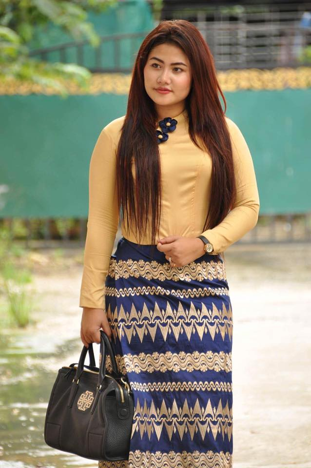 May Pachi In Myanmar Dress Outfit