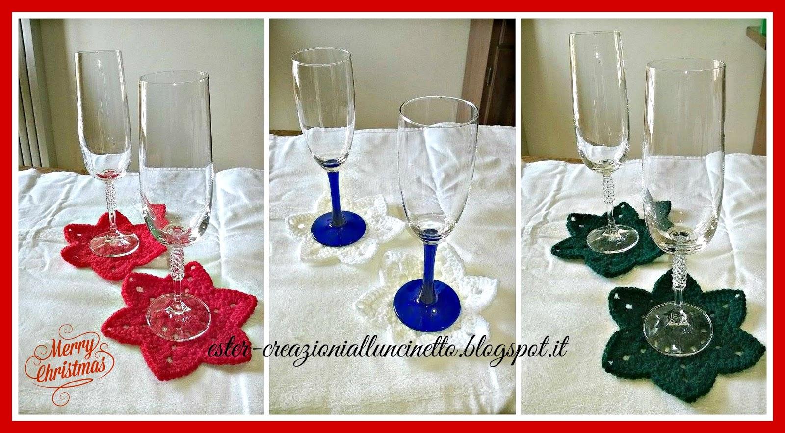 Sotto bicchieri per natale - Bicchieri decorati per natale ...