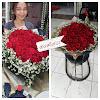 Hand Bouquet Mawar Merah 161112