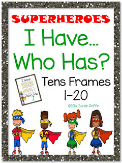 https://www.teacherspayteachers.com/Product/I-Have-Who-Has-Tens-Frames-1-20-Superheroes-2543699
