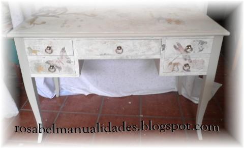 Rosabel manualidades muebles decorados - Decoupage con servilletas en muebles ...