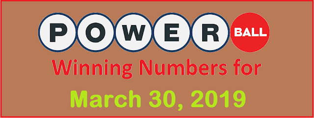 PowerBall Winning Numbers for Saturday, 30 March 2019