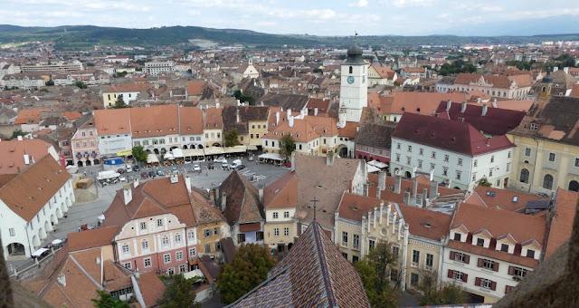 Sibiu - Blick von der Stadtpfarrkirche auf die Stadt