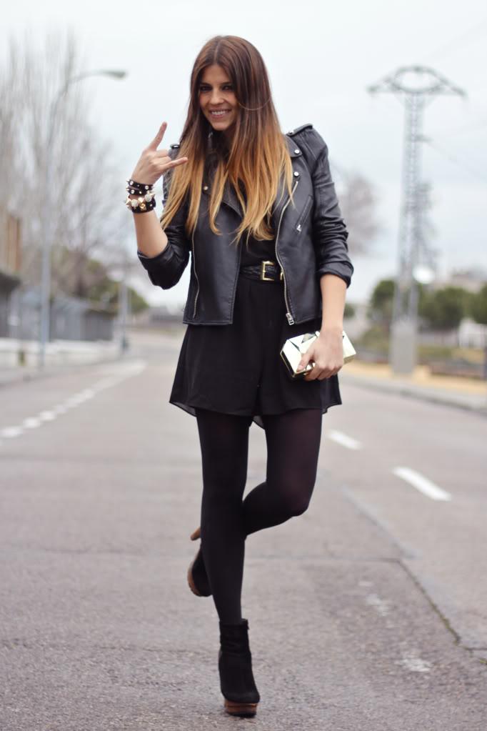 Marta Garc 237 A Fashion Stylist Street Style Cazadora De Cuero