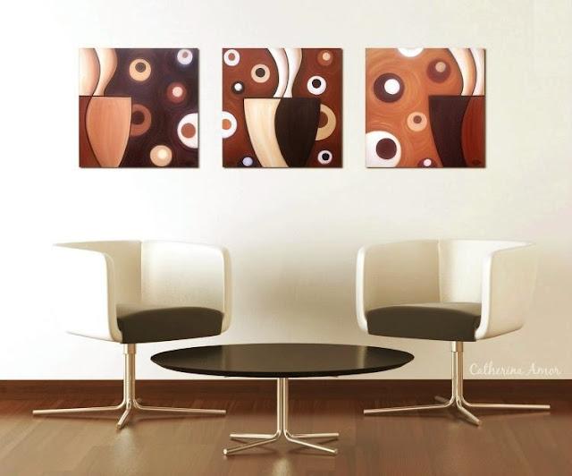 Retro Mod Coffee Paintings by Catherina Amor
