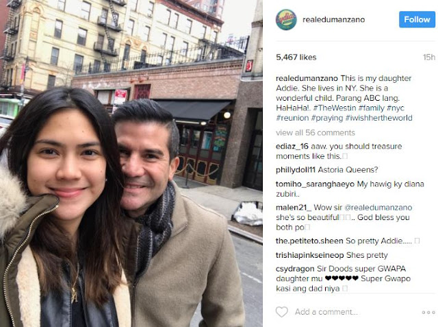 Check Out Edu Manzano's NYC-Based Daughter, Addie, Who Looks Like A Goddess! Wow! She's So Pretty!