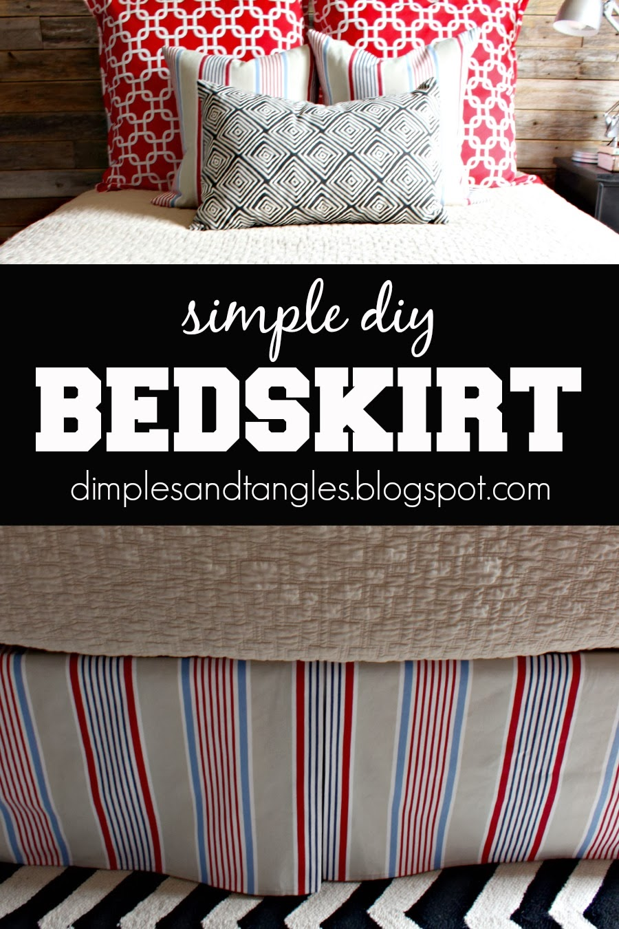 How To Make A Simple Diy Bedskirt Dimples And Tangles
