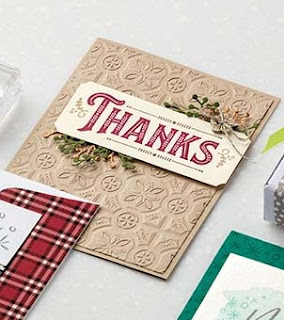 VIDEO: Stampin' Up! Tin Tile Embossing Folder & Warm Hearted Card ~ 2018 Holiday Catalog