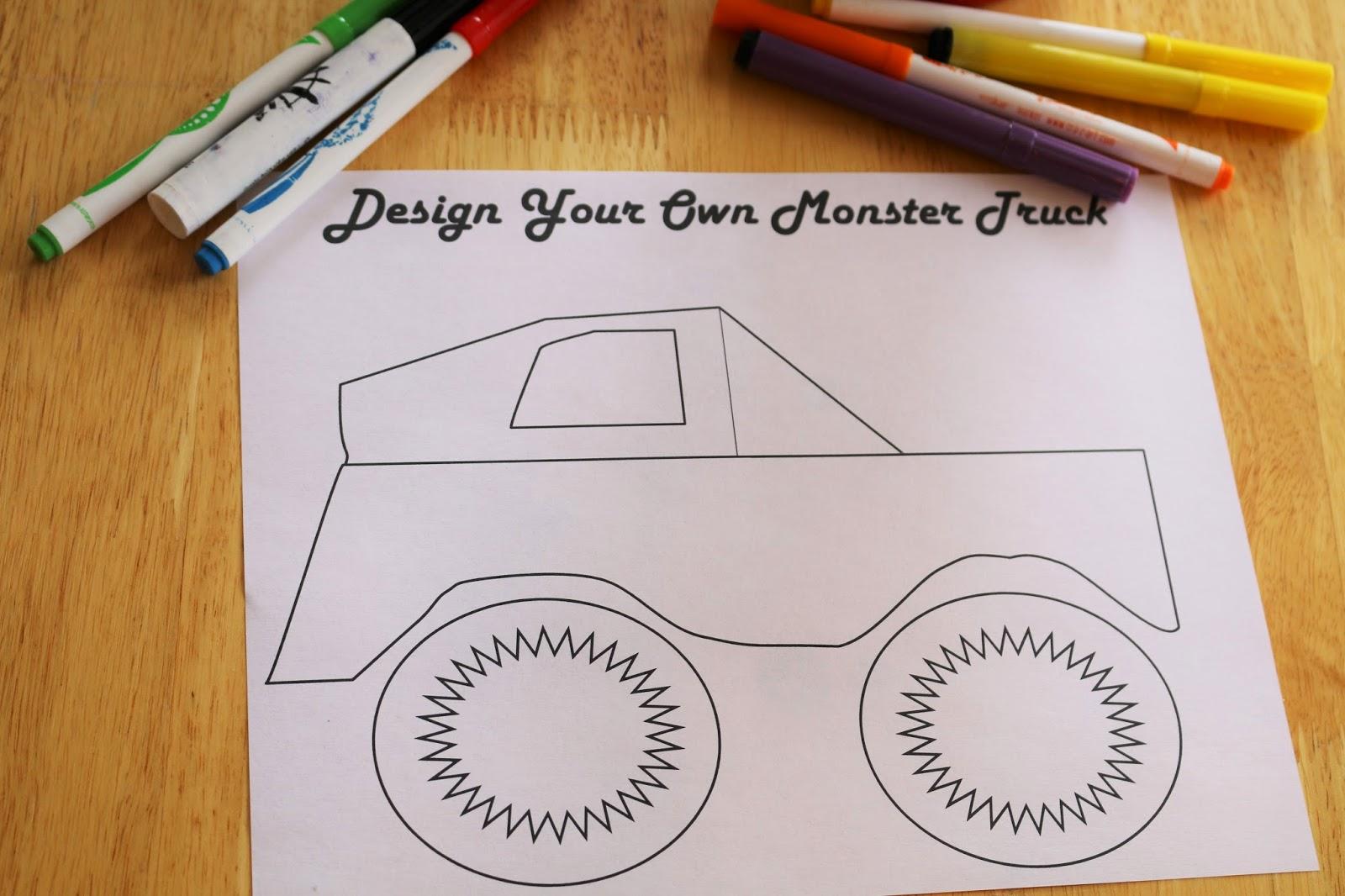 Design Your Own Monster Truck Printable