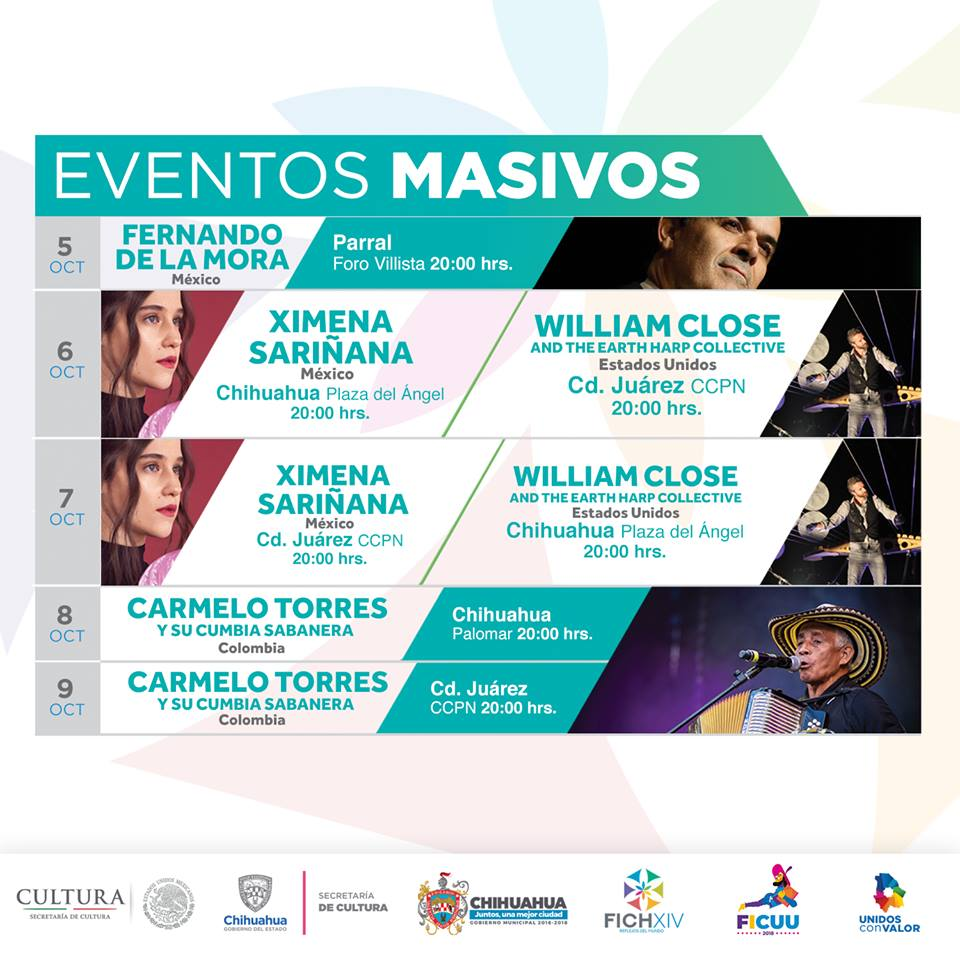Cartelera Eventos Masivos FICH 2018