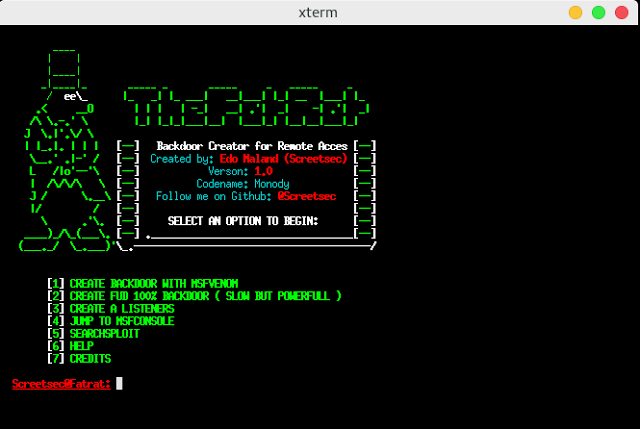 TheFatRat - Easy Tool For Generate Backdoor with Msfvenom