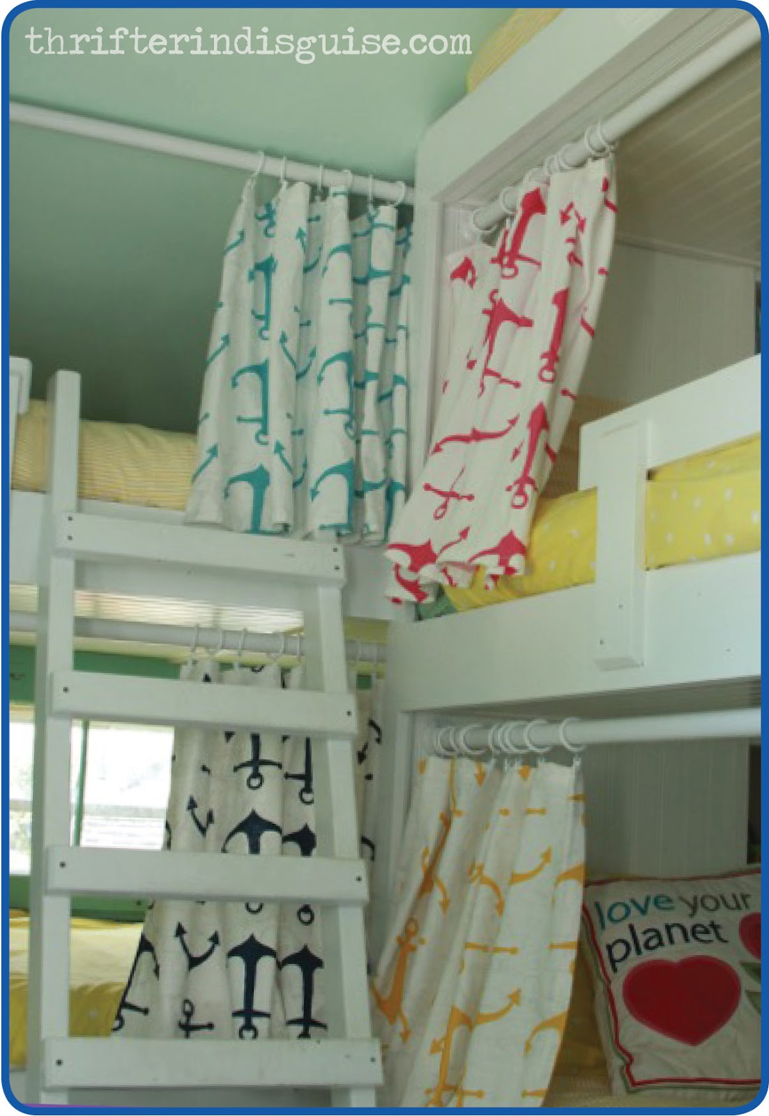 bunk bed curtain a thrifter in disguise easy sew diy bunk ...