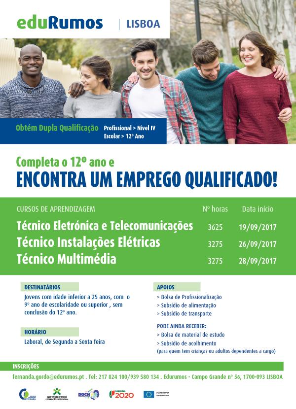 Cursos de aprendizagem de dupla certificação em Lisboa (2017)