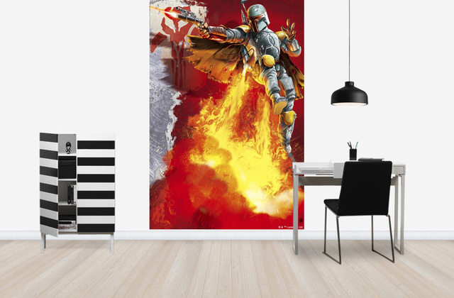 cool tapet star wars fototapet boba fett