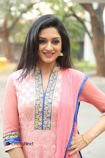 Actress Vimala Raman Stills in Beautiful Pink Salwar Kameez at (ONV) Om Namo Venkatesaya Press Meet  0051.JPG