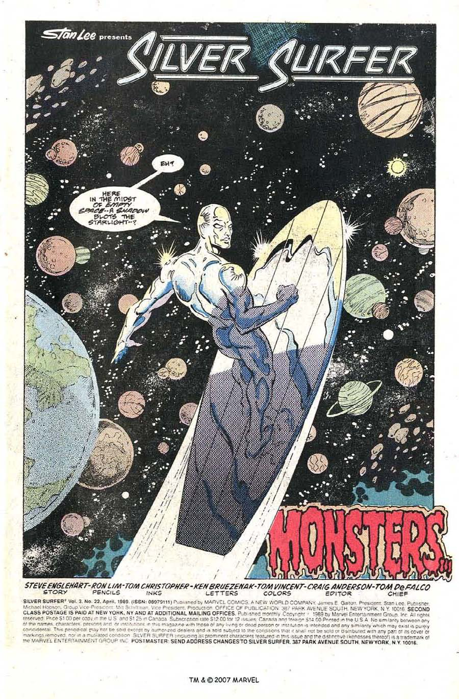 Read online Silver Surfer (1987) comic -  Issue #22 - 3
