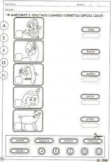 Atividade com as vogais