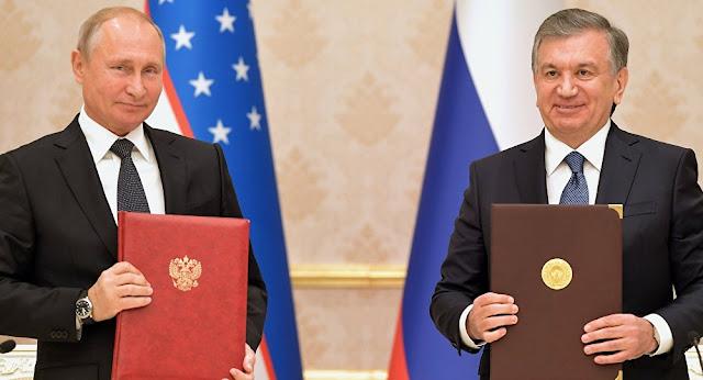 Putin ve Mirziyoyev, Özbekistan'ın İlk Nükleer Santrali İçin Butona Bastı