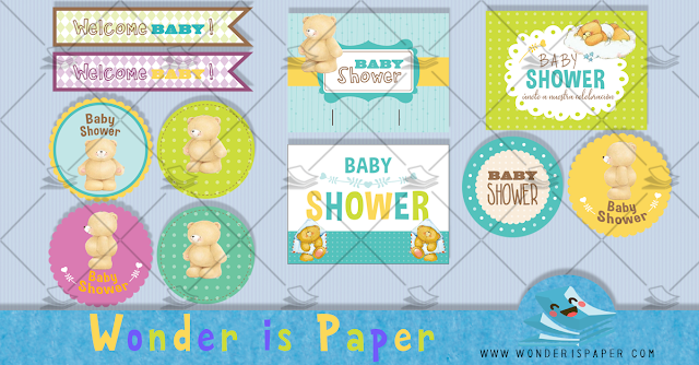 Etiquetas Baby Shower Oso