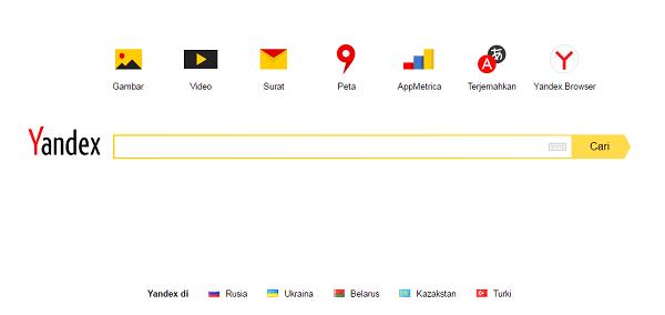mesin pencari yang terkenal di russia