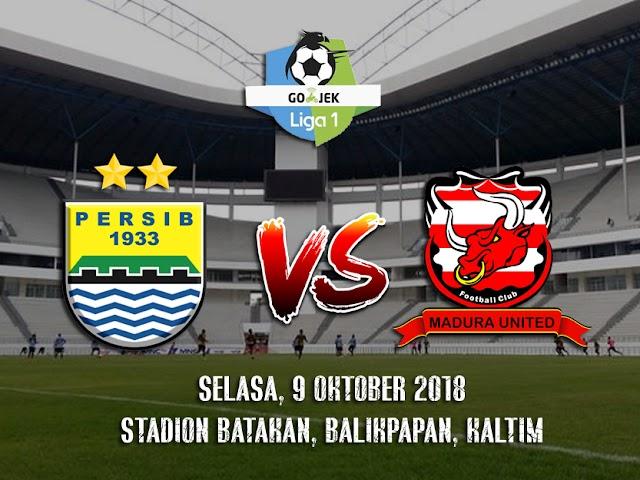 Data dan Fakta Laga Persib VS Madura United 9 Oktober 2018