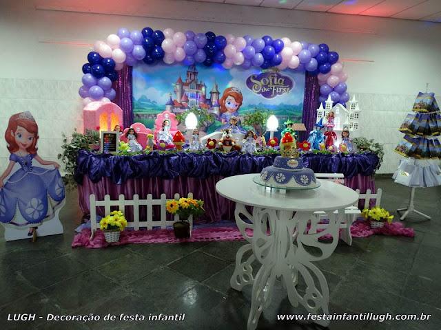 Decoração tradicional luxo - Festa Princesa Sofia
