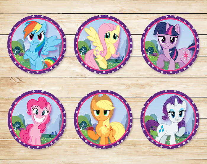 free printable my little pony cupcake toppers my little pony stickers
