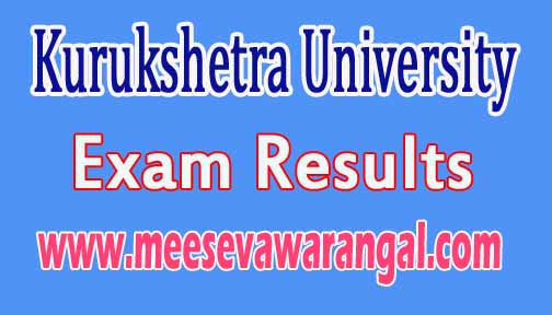 Kurukshetra University M.Phil Panjabi May 2016-Exam Results