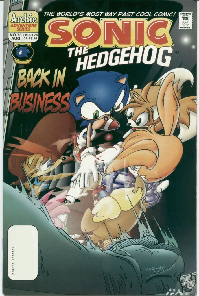 Read online Sonic The Hedgehog comic -  Issue #73 - 1