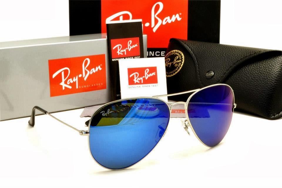 04fcad8a060d2 RAYBAN AVIATOR RB3025 SILVER   BLUE IRIDIUM LENS 58-14MM - iStore