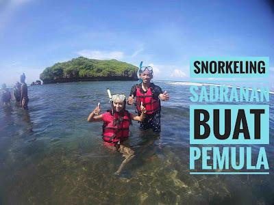 Snorkeling di Sadranan buat pemula