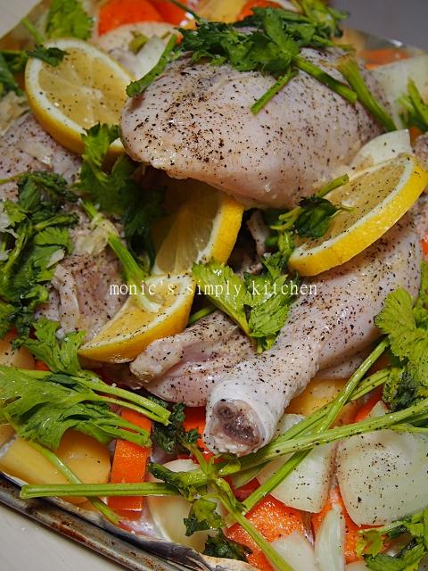 cara buat ayam panggang lemon