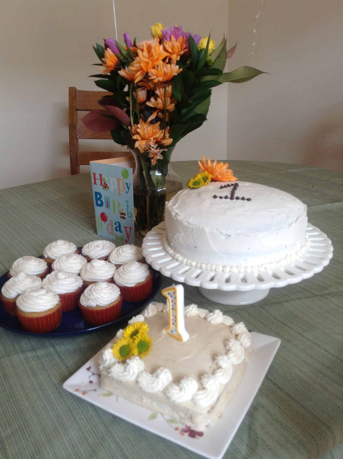 Dairy-free, Egg-free and Gluten-free First Birthday Cake