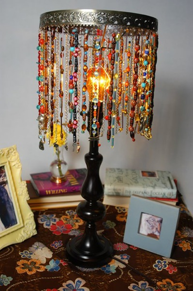 Beaded Lamp Shades Impressive Dishfunctional Designs Unique Lampshade Creations
