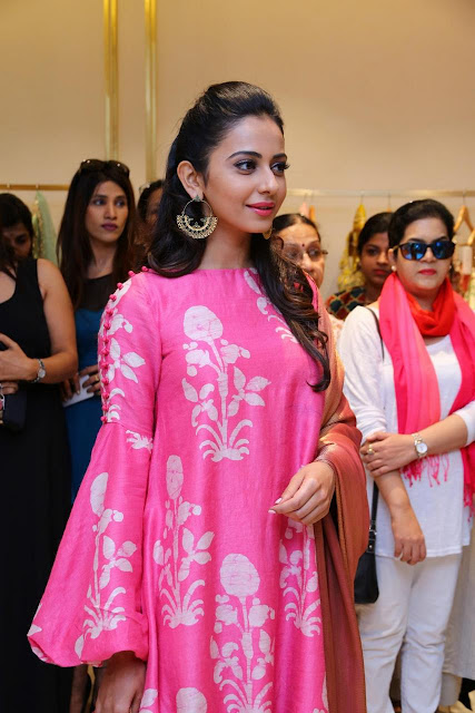 Rakul Preet Singh Pink Dress pictures at Lakme Fashion Week
