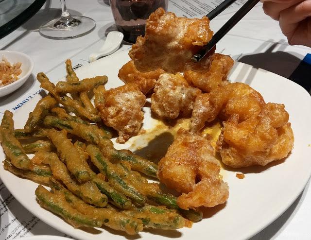 Southbank Progressive Dinner, Southgate Melbourne, Red Emperor, fried prawns