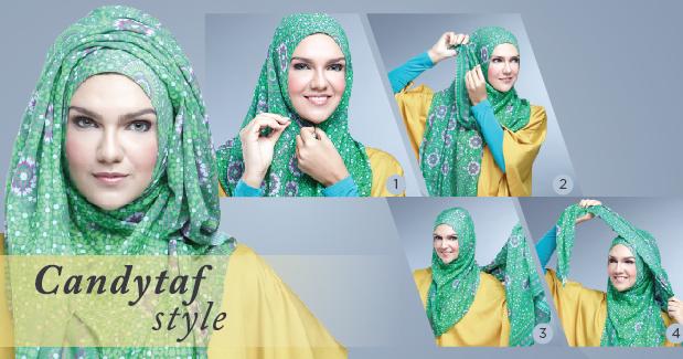 Tutorial Cara Memakai Hijab Modern Pashmina