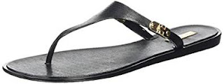 Open Bargains : Aldo Women's Missi Flip Flop £6.00 , 100% Leather Flat Black (Black Synthetic / 96) size 6.5UK and 3.5 UK