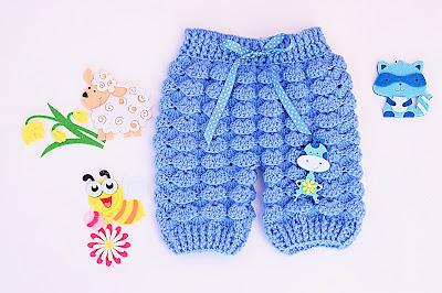 1 - Majovel crochet Pantalones crochet a juego con la chambrita a relieve