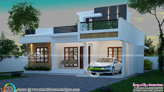 1060 square feet 2 bedroom small home plan