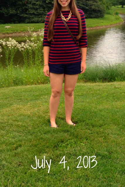 Preppy 4th of July OOTD!