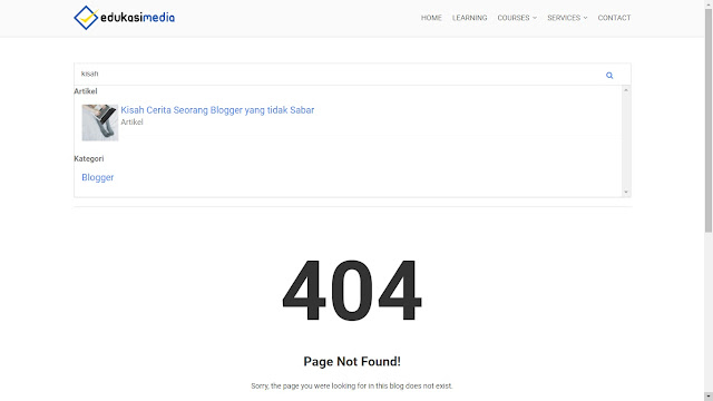 smart search box 404 page