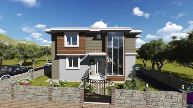 contoh rumah sederhana di kampung,rumah pedesaan modern