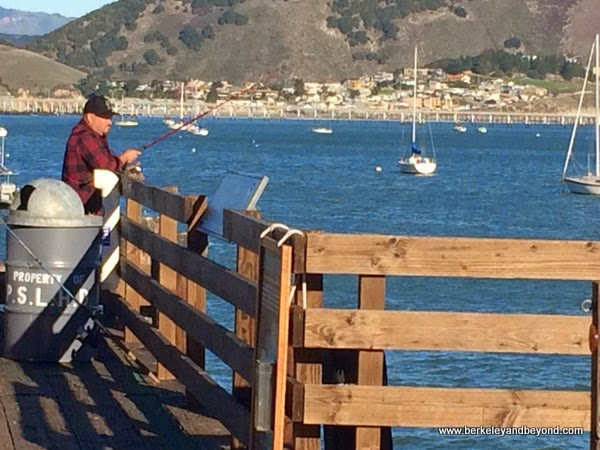 fisherman on Harford Pier in Avila Beach, California
