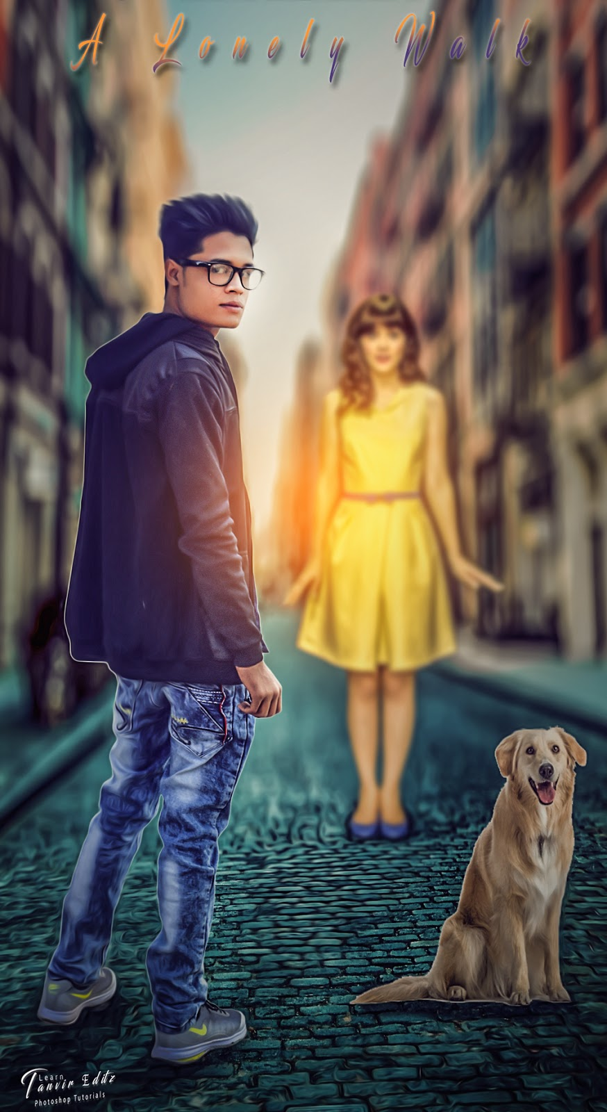 Tanvirz creation lonely walk movie poster design tutorial lonely walk movie poster design tutorial photoshop by tanvirz creation baditri Gallery