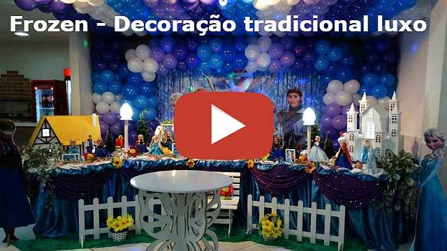 Vídeo decoração de festa de aniversário Frozen