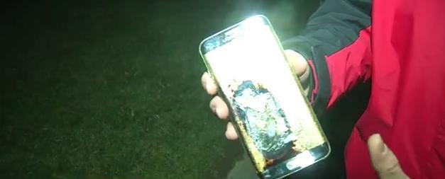 """سامسونغ جالاكسي S7 Edge ينفجر """"كالقنبلة الصغيرة"""""""